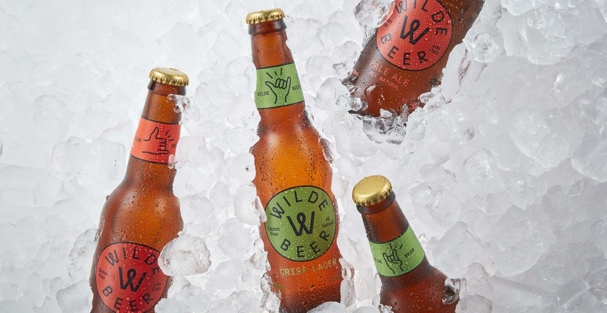 Picture of gluten free beers in an ice filled esky